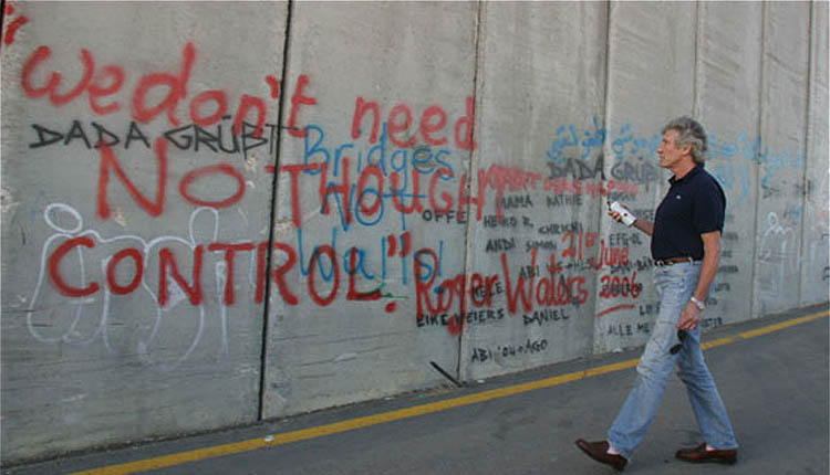 Graffiti de Waters sobre el Muro del Apartheid: 'No necesitamos control del pensamiento', 2006