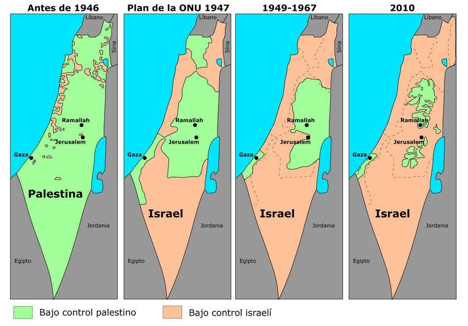 Resultado de imagen de Israel Palestina