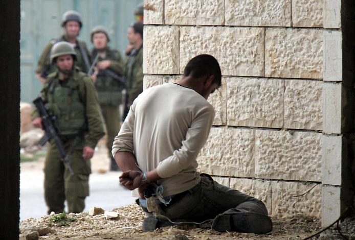 verhafteter Palästinenser