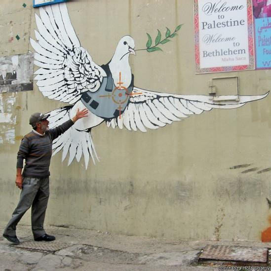 Grafitis sobre el Muro de Apartheid