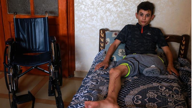 Adolescente palestino disparado por un soldado israelí: 'Mi pierna se ha ido'