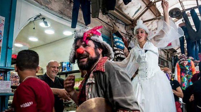 Payasos hicieron de la risa un 'arma' contra la ocupación de Palestina
