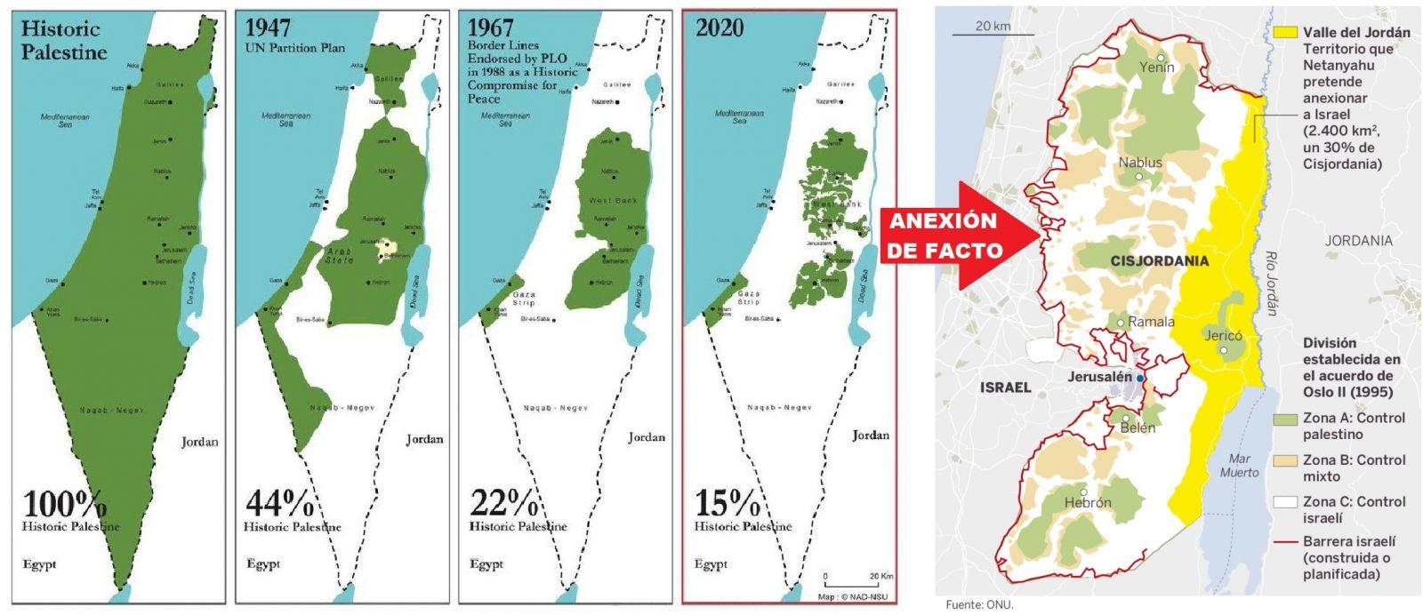 Israel se apresta a anexar Cisjordania. La anexión de facto ya existe desde el comienzo de la ocupación