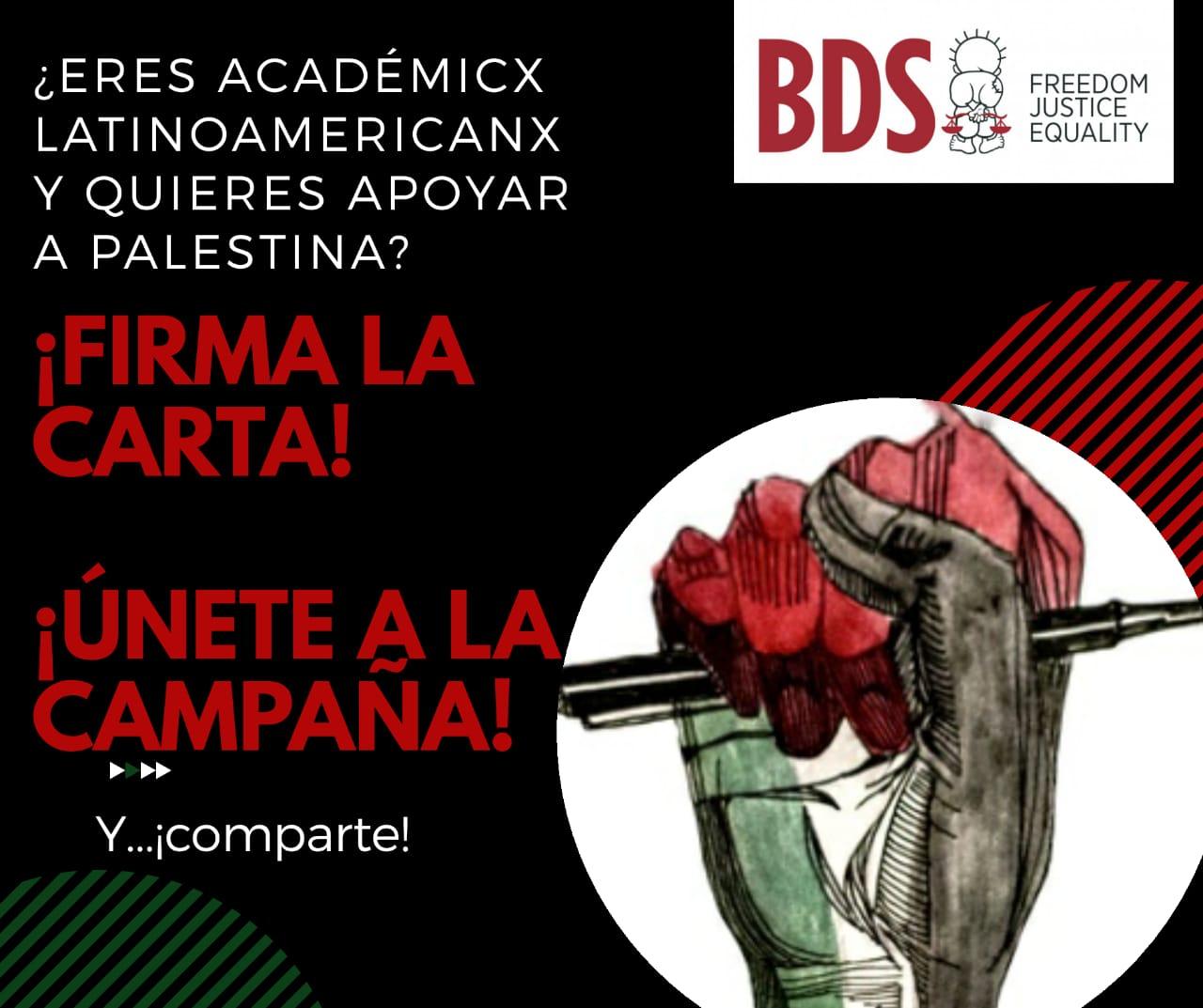 Llamado a lxs Acádemicxs a apoyar a la sociedad civil palestina para acabar con el Apartheid