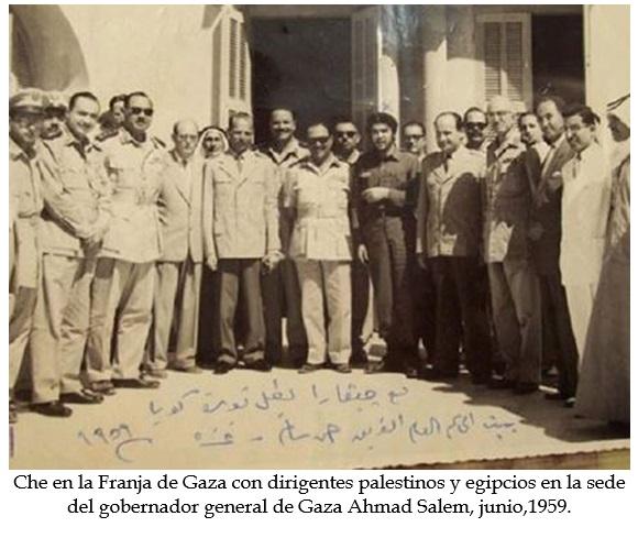 18 de junio de 1959: 60 aniversarios de la visita de Che Guevara a Gaza, Palestina
