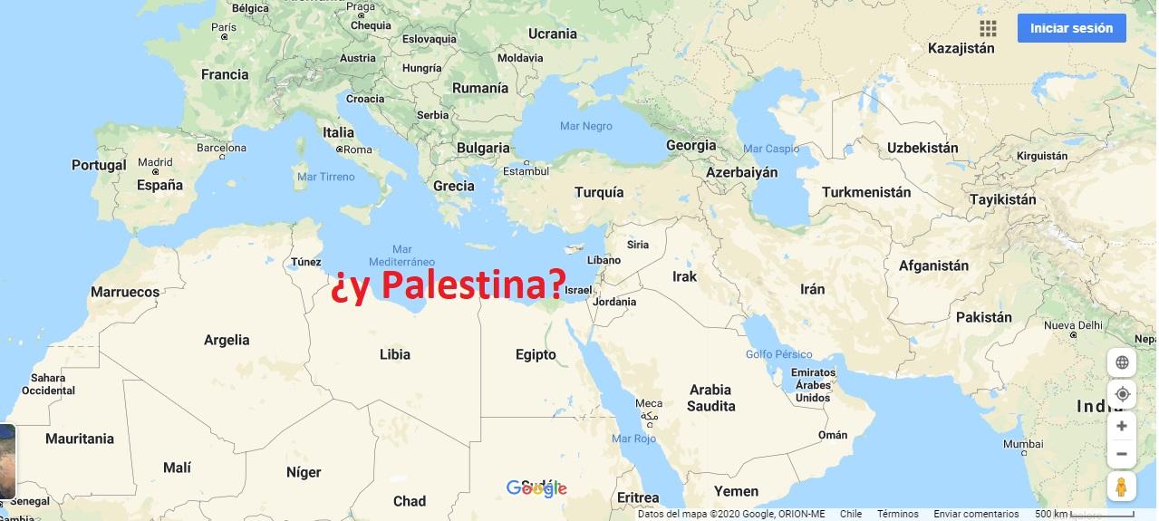 Un millón de personas reclaman a Google que incluya a Palestina en sus mapas