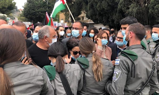 Palestinos de Nazaret protestan contra la visita de Netanyahu a la ciudad