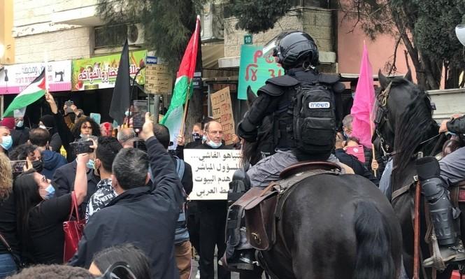 'Extrema violencia' y represión israelí contra los palestinos de Nazaret en manifestación anti Netanyahu