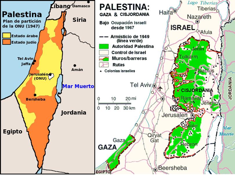 Franja De Gaza Mapa.Palestina Se Reserva El Derecho De Admision